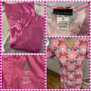 Like New Cherokee Scrub Top w/Matching Scrub Pants